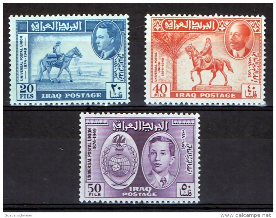 ID4 - IRAK SERIE DE 3 TP N°177/79 NEUFS* 75 EME ANNIVERSAIRE DE L'UPU - Iraq