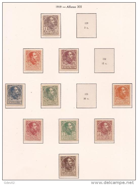 GUI128-L4148TCSC.Espagne. Spain.Guinee.GUINEA ESPAÑOLA ALFONSO XIII  1919.(Ed 128/40**)RARA - Celebridades
