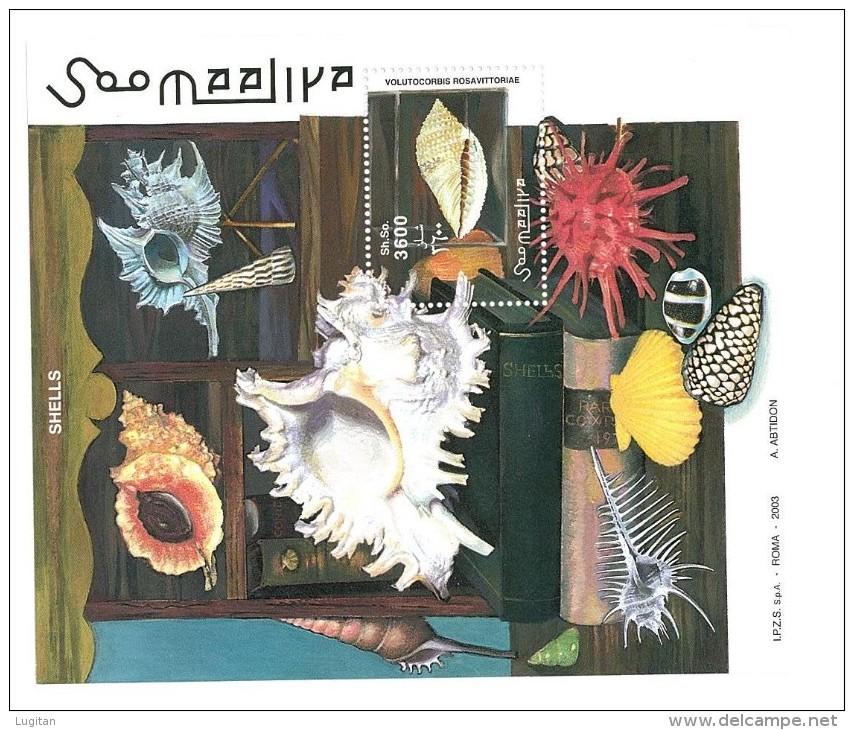 SOMALIA - 2003 Conchiglie - FOGLIETTO - NUOVO MNH ** - SHELLS - Conchiglie