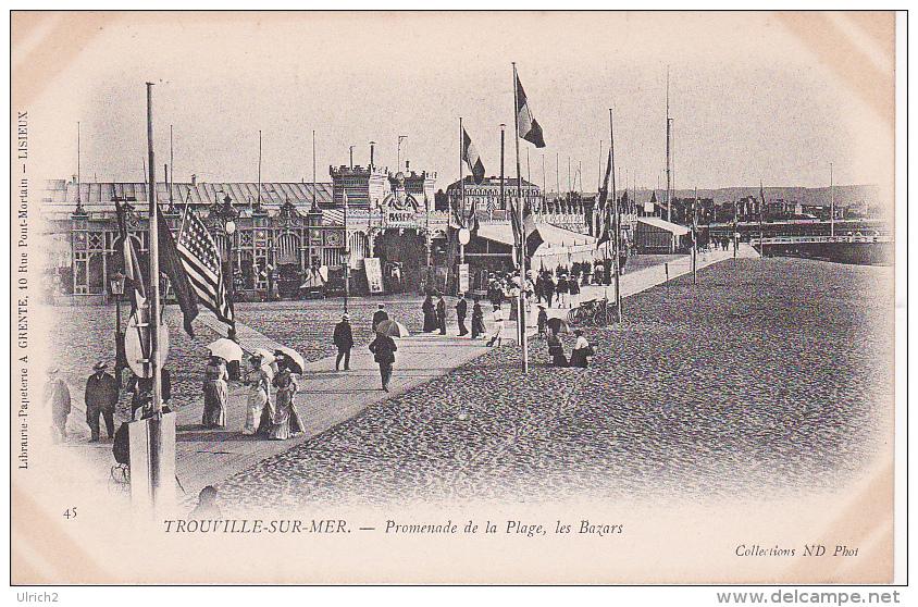 CPA Trouville-sur-Mer - Promenade De La Plage, Les Bazars (1769) - Trouville