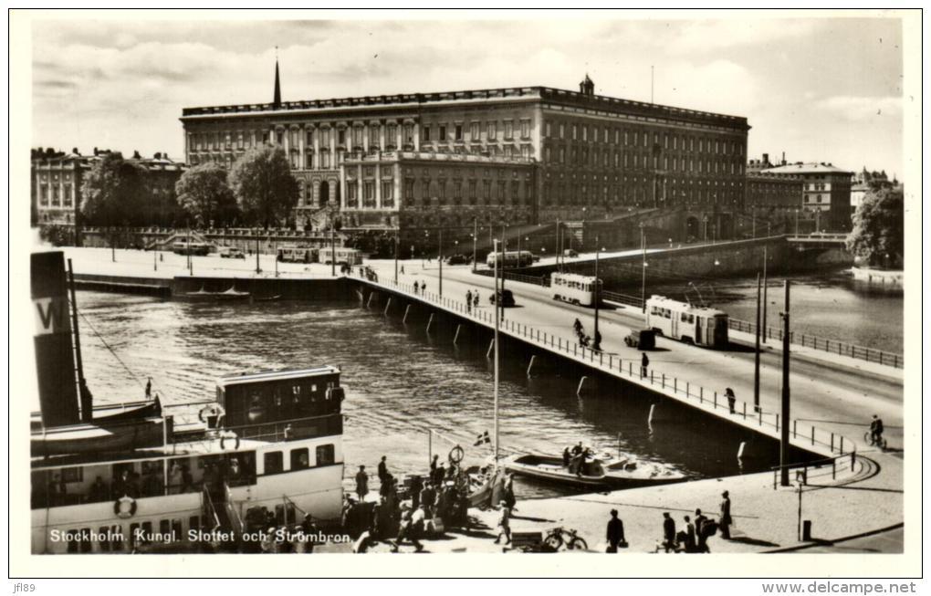 75386 - Suède    Stockholm     Kungl   Slottet Och Stombron - Suède