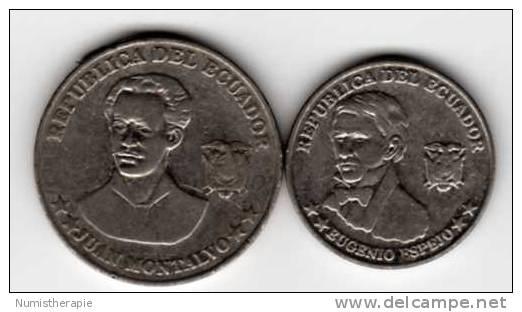 Equateur Ecuador : Lot De 2 Pièces : 5 & 10 Centavos An 2000 - Equateur