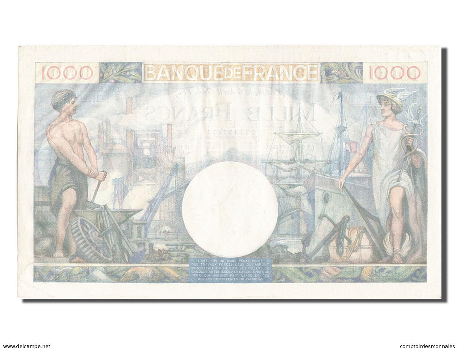 [#203165] 1000 Francs Type Commerce Et Industrie, 06 Avril 1944, Fayette 39.5 - 1871-1952 Antichi Franchi Circolanti Nel XX Secolo