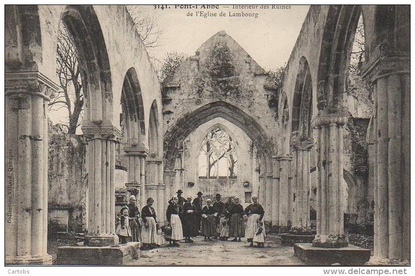 29 PONT-L'ABBE  Intérieur Des Ruines De L'Eglise De Lambourg - Pont L'Abbe