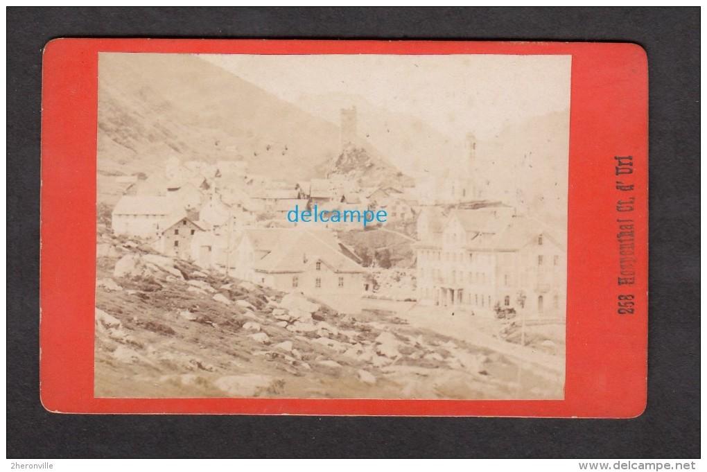 Photo Ancienne CDV 1880 - HOSPENTHAL / HOSPENTAL - Canton D' Uri - Photo A. Gabler à Interlaken - RARE - Anciennes (Av. 1900)