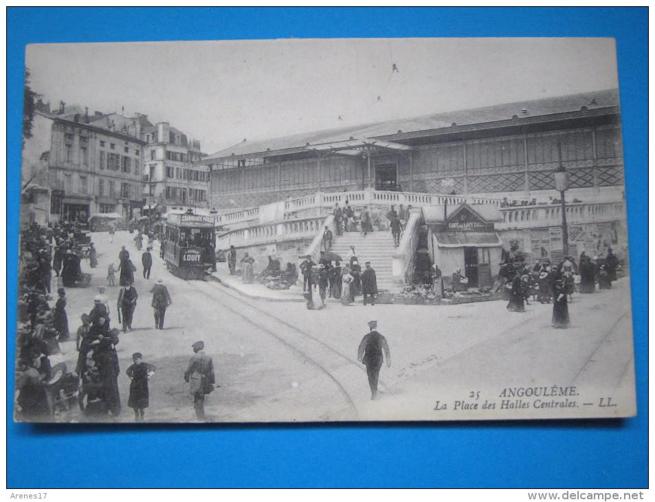 16 : ANGOULEME : La PLACE Des HALLES CENTRALES  : C.P.A. Carte En Trés Bon état, Animée - Halles