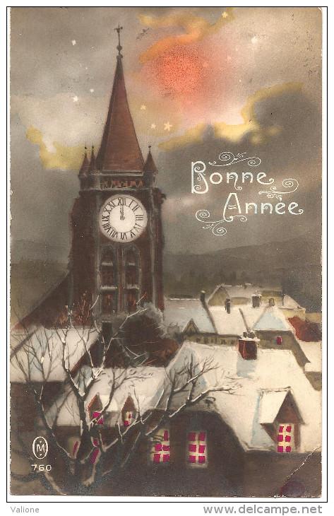 Bonne Année En 1927 Avec Eglise - Nouvel An