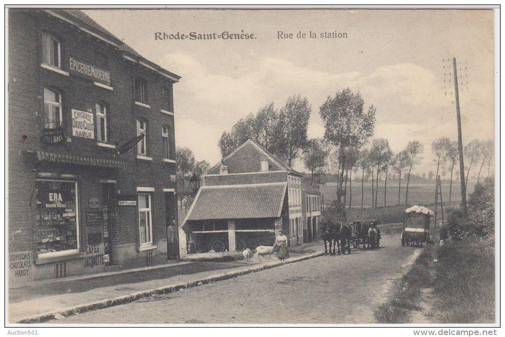 """21353g EPICERIE MODERNE - RUE De La STATION - """"Chicorée David Cajot Namur"""" """"Secours Aux Cyclistes"""" - Rhode-Saint-Genèse - Rhode-St-Genèse - St-Genesius-Rode"""