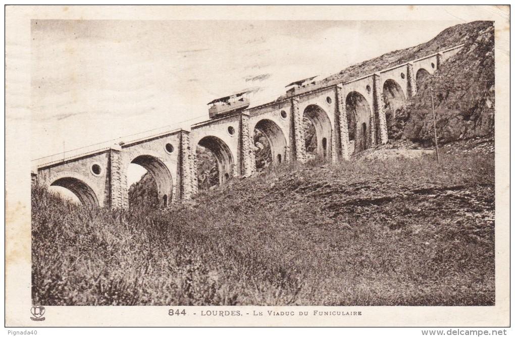 Cp , TRANSPORTS , LOURDES , Le Viaduc Du Funiculaire - Ouvrages D'Art