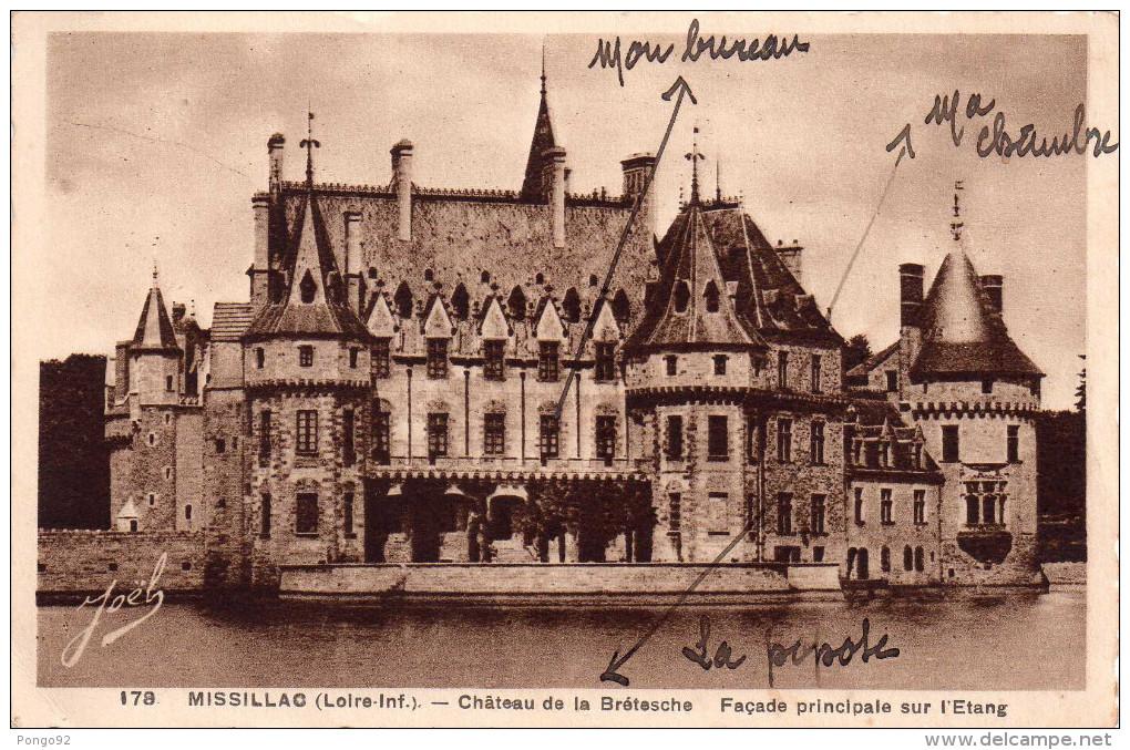 Cpa MISSILLAC, Château De La Brétesche, Façade Principale Sur L´étant    (32..53) - France