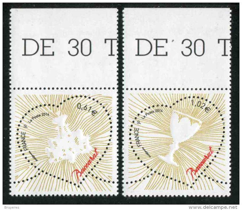 """Timbres** Gommés De 2013  """"0,61 Et 1,02 Coeur Baccaratr"""" - France"""