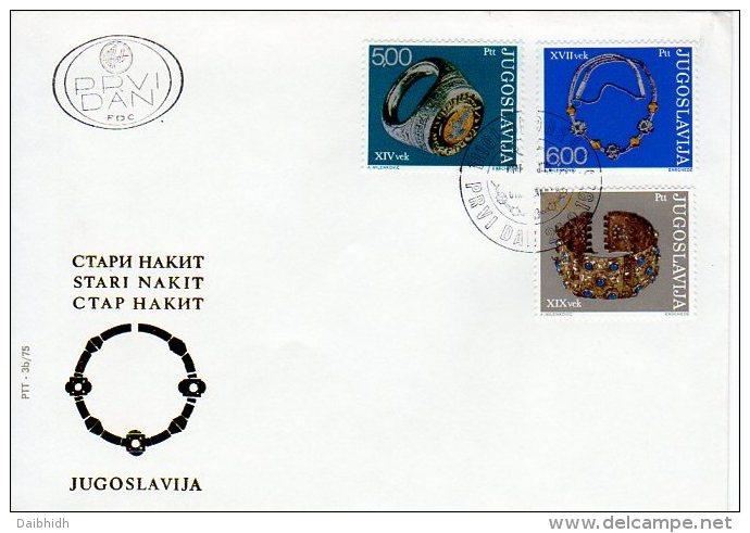 YUGOSLAVIA 1975 Antique Jewellery On 2  FDCs.  Michel  1587-92 - FDC