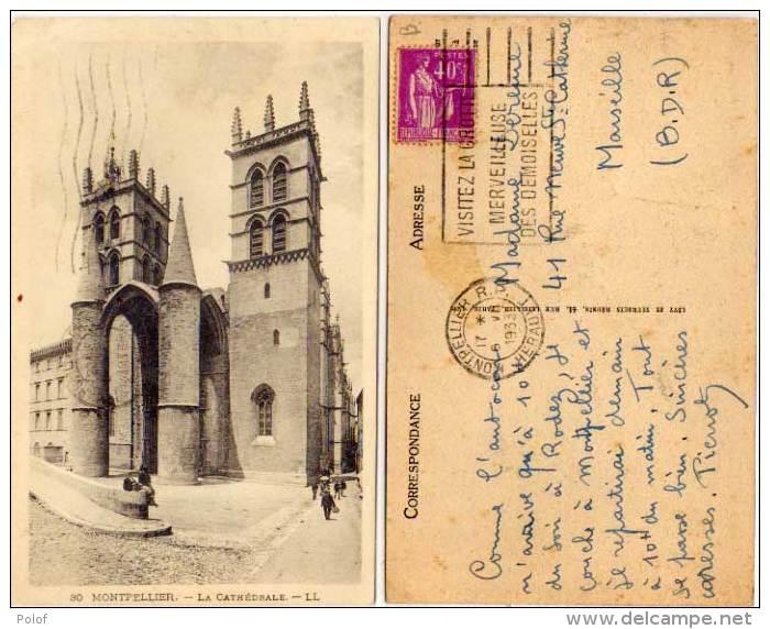 MONTPELLIER - La Cathédrale -   Belle Flamme De La Grotte Des Demoiselles    (65739) - Montpellier