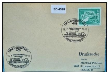 SD4598 Polytechnische Oberschule, Halle-Neustadt DD 18.2.1976 - [7] République Fédérale