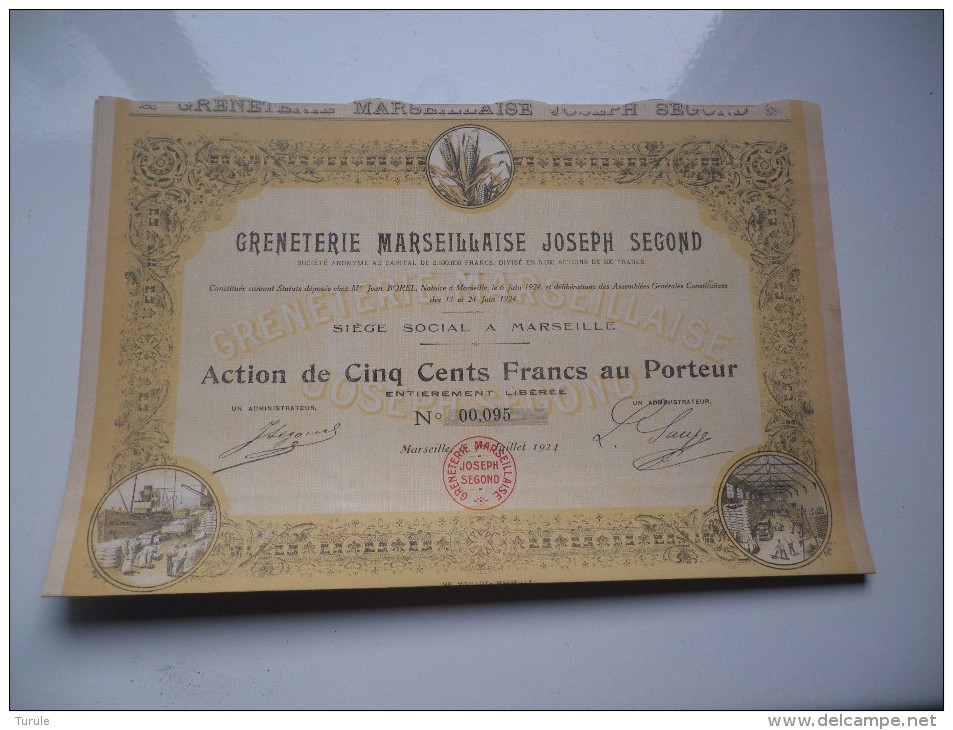 GRENETERIE JOSEPH SEGOND (1924) MARSEILLE - Shareholdings
