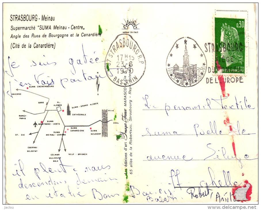 "STRASBOURG SUPERMARCHE ""SUMA"" MEINAU CENTRE ,ANGLE DES RUES DE BOURGOGNE ET LA CANARDIERE (CITE CANARDIERE)  REF 37324 - Strasbourg"