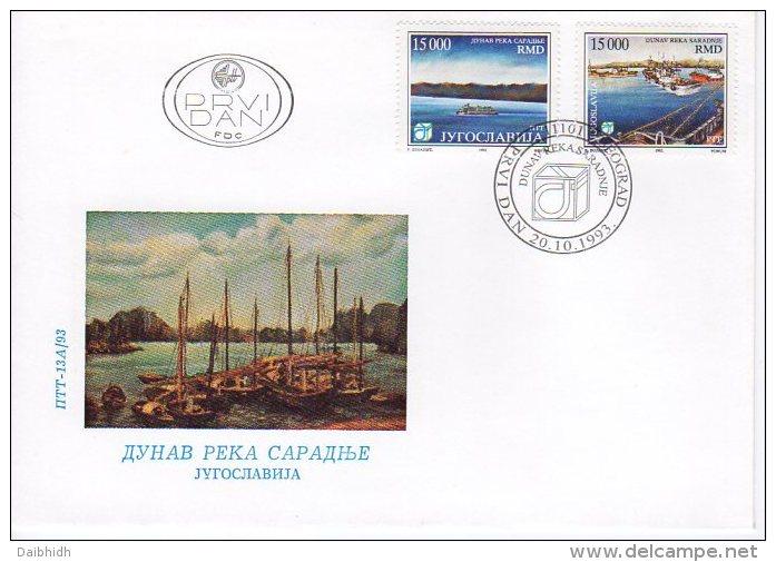 YUGOSLAVIA 1993 Danube Cooperation FDC.  Michel 2628-29 - FDC