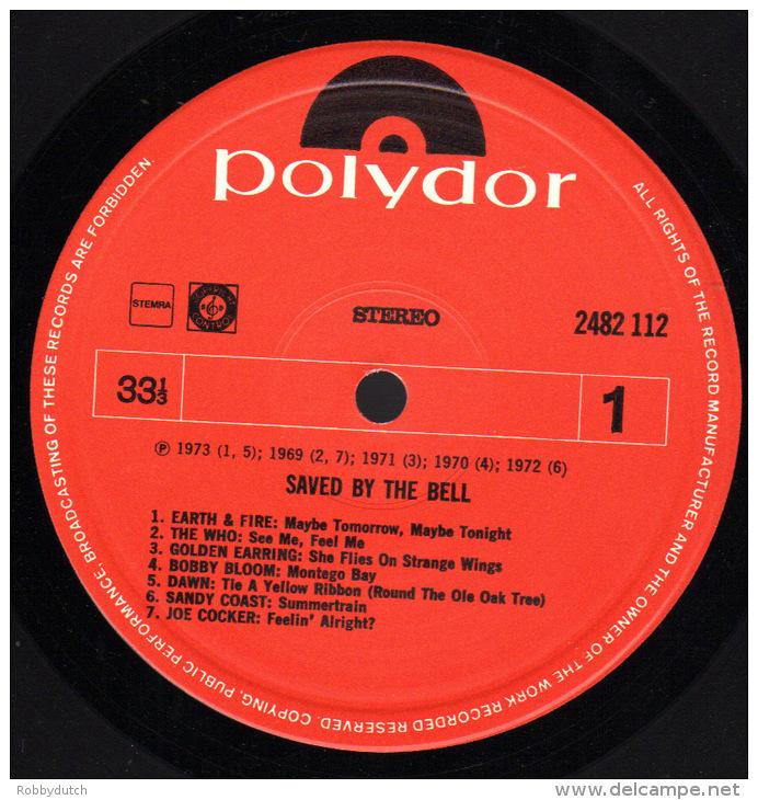 * LP *  SAVED BY THE BELL - 13 VERONICA ALARMSCHIJVEN - VARIOUS (Hololand 1973 EX-!!!) - Compilaties