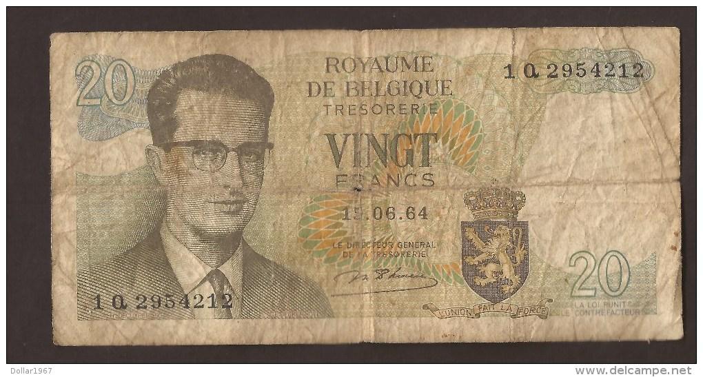 België Belgique Belgium 15 06 1964 20 Francs Atomium Baudouin. 1 Q 2954212 - [ 6] Treasury