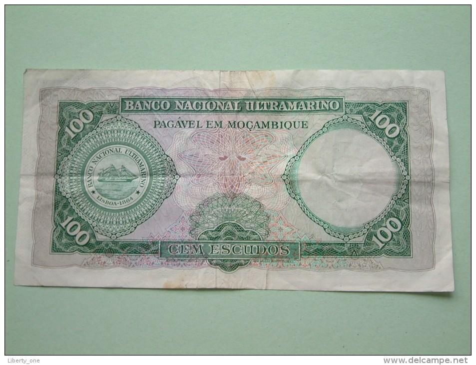 CEM ( 100 ) ESCUDOS Lisboa 27 De Março De 1961 BANCO DE MOCAMBIQUE C58785176 ( For Grade, Please See Photo ) ! - Mozambique