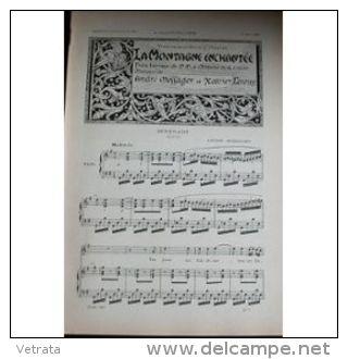 Partition , Supplément à L'Illustration Avril 1897 : La Montagne Enchantee, André Messager Et Xavier Leroux / Musique Tr - Operaboeken