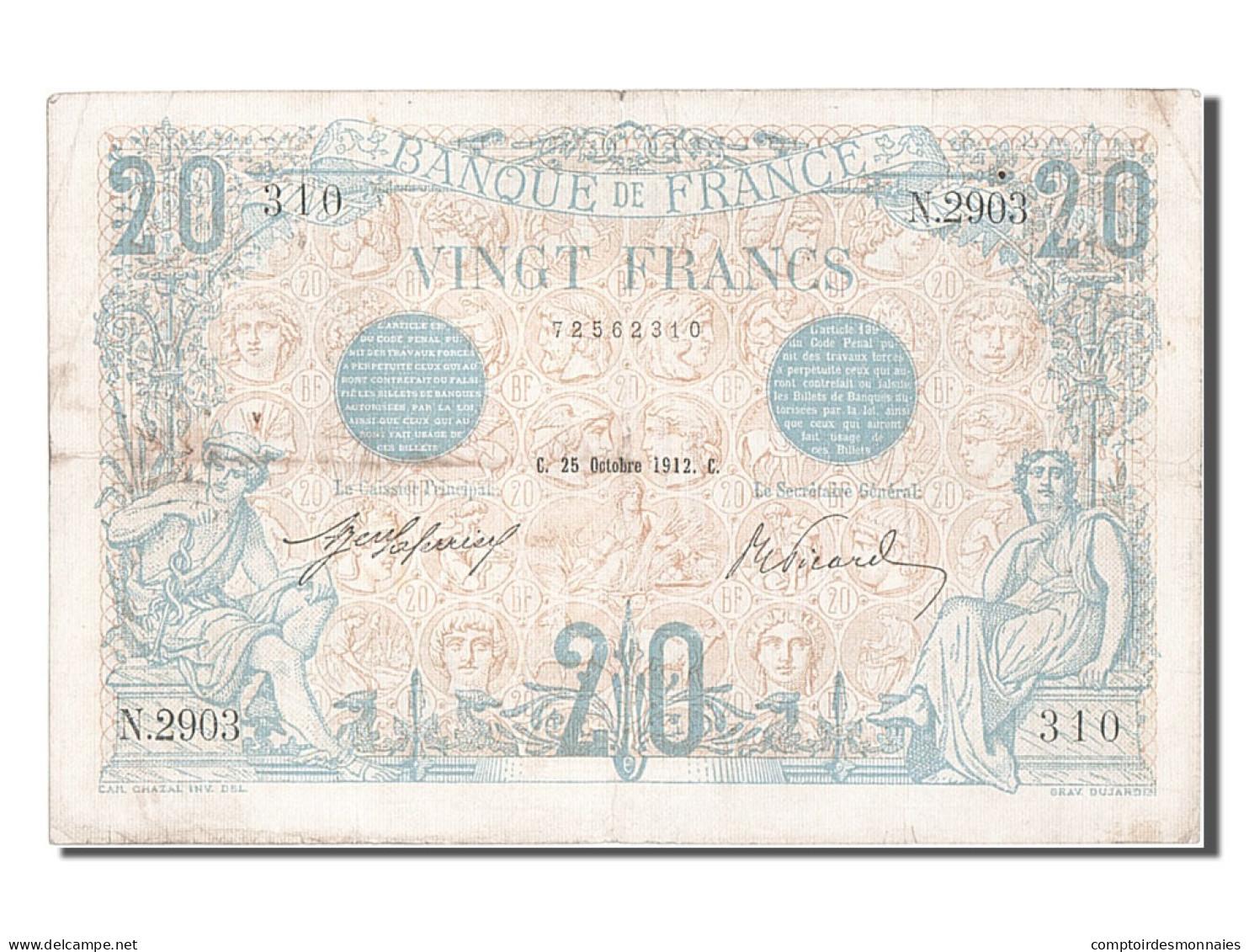 20 Francs Type Bleu - 1871-1952 Circulated During XXth