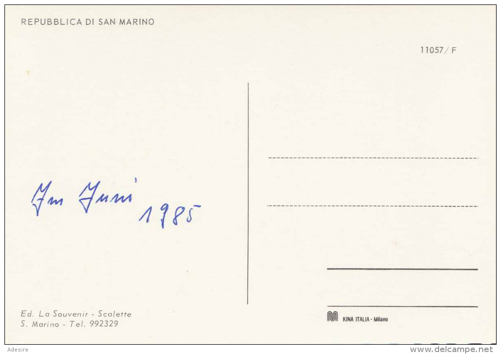 SAN MARINO Repubblica - Ed.La Souvenir - Scalette, 1985 - San Marino