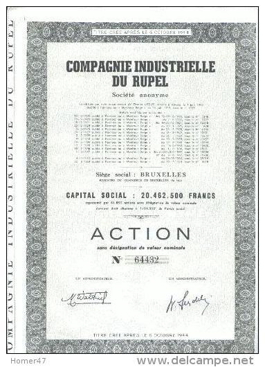 Compagnie Industrielle Du Rupel - Industrie