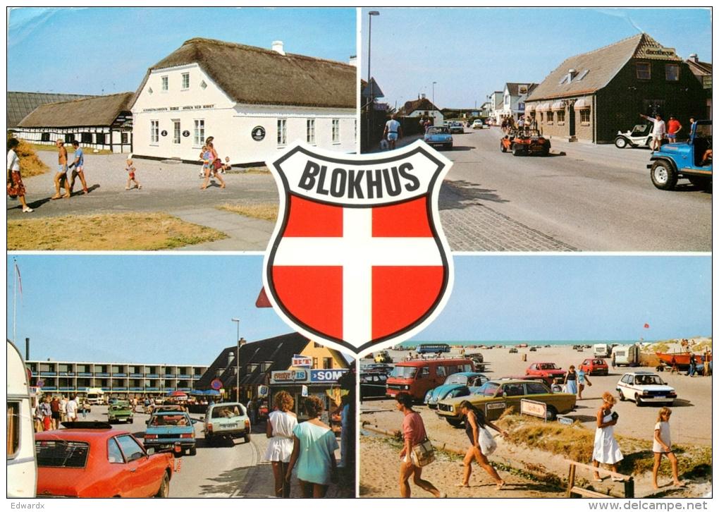 Blokhus, Denmark Postcard Posted 1984 Stamp - Denmark