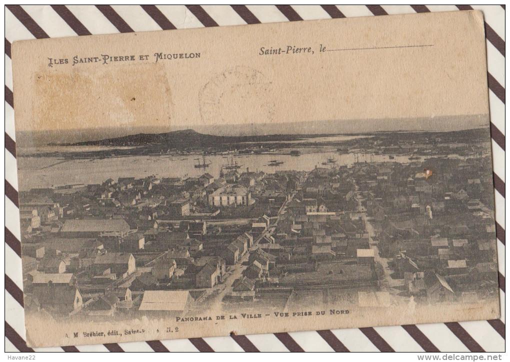 4AF1048  ILES-SAINT-PIERRE Et MIQUELON - PANORAMA DE LA VILLE VUE PRISE DU NORD 2 SCANS - Saint-Pierre-et-Miquelon