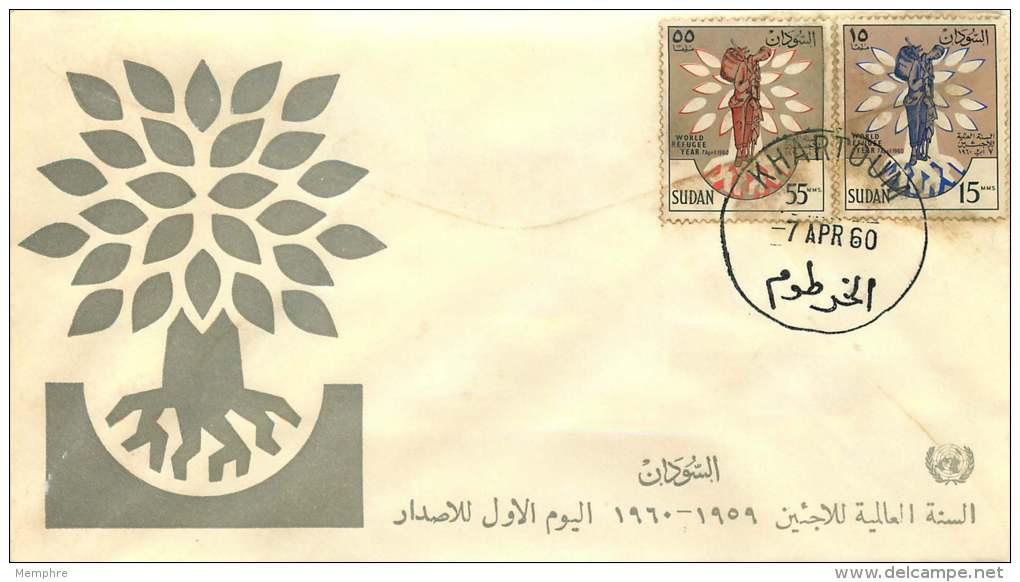 1960  Année Mnodiale Des Réfugiés  FDC - Soudan (1954-...)