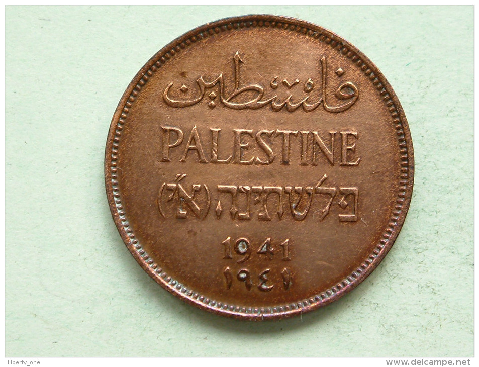 Palestine 1941 - TWO MILS / KM 2 ( Uncleaned Coin - For Grade, Please See Photo ) !! - Monnaies