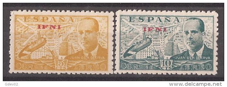 IF57-L4170TPRO.Marruecos .Maroc.Marocco.IFNI  ESPAÑOL.Ingeniero JUAN DE LA CIERVA.1948.(Ed 57/8**) Sin Charnela. - Berufe