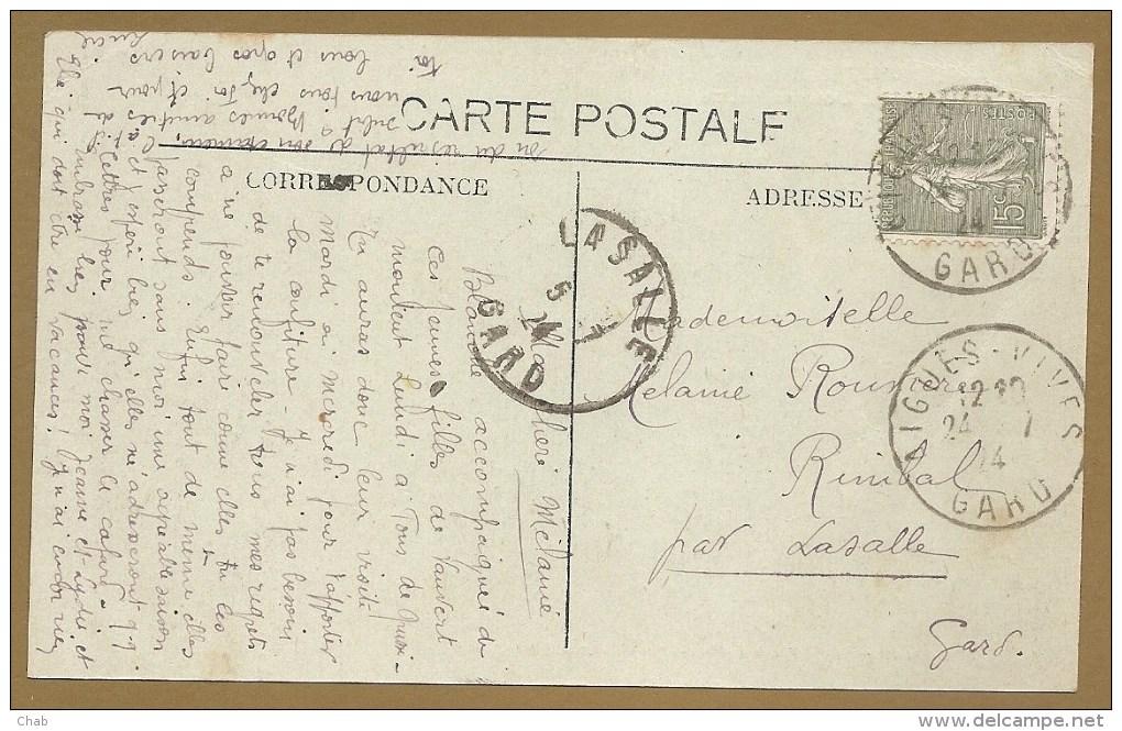 AIGUES VIVES (Gard) -- Maison Natale De M. Doumergue, Ministre - Voyagée 1924 - FONTAINE - Aigues-Vives