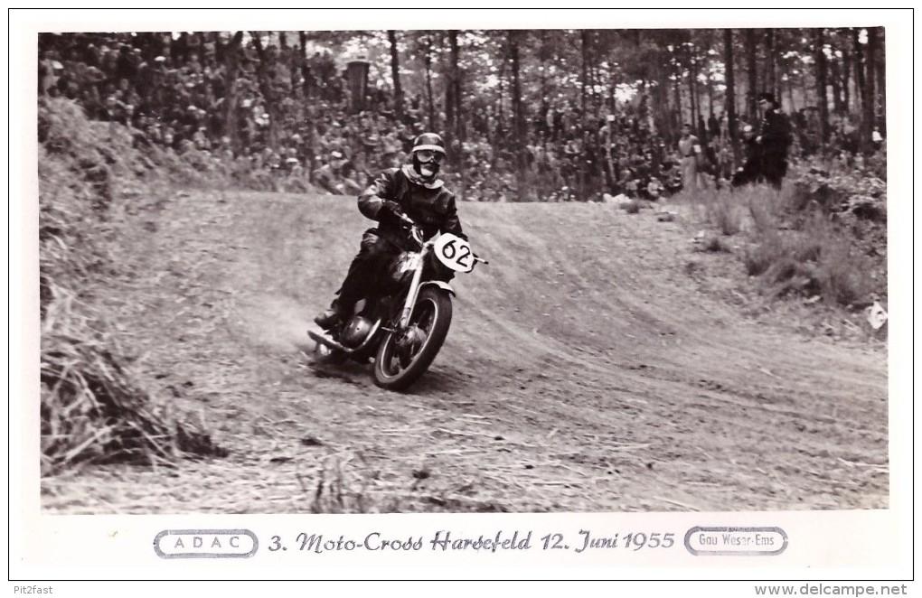 AK Harsefeld - Motocross 1955 , Motorrad , Sandbahn , Speedway , Grasbahn , Moto Cross , Motorsport , Stade !!! - Motorräder