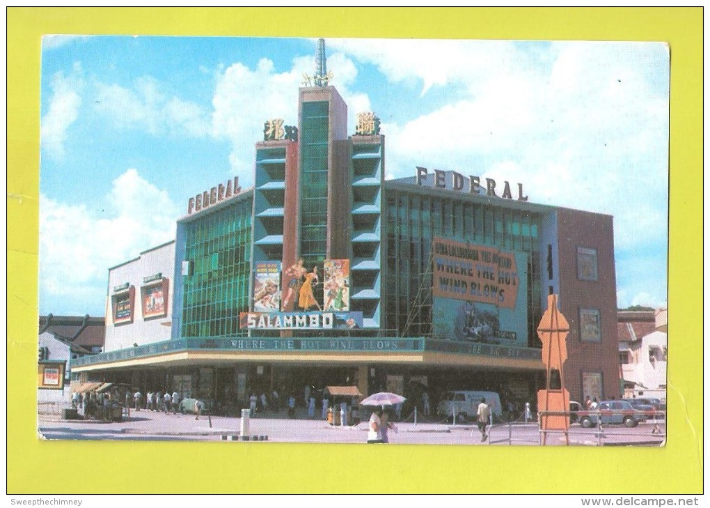 Kuala Lumpur Malaysia Federal Theatre Salammbo Street Scene C 1960s Vintage Postcard MALAYSIA 1960'S UNUSED - Malaysia