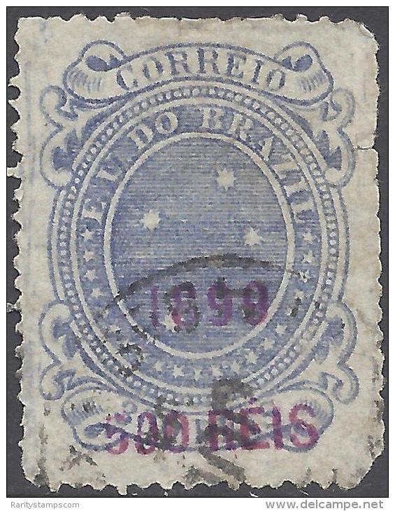 BRAZIL 1898 500r  BLUE Nº 108A - Brésil