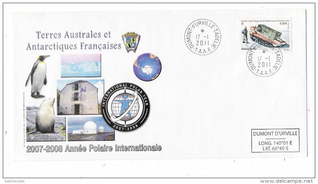 TERRES AUSTRALES ET ANTARCTIQUES FRANCAISES ( TAAF ) / 2007-2008 = ANNEE POLAIRE INTERNATIONALE ( Tracteur WEASEL M29C ) - TAAF : Terres Australes Antarctiques Françaises