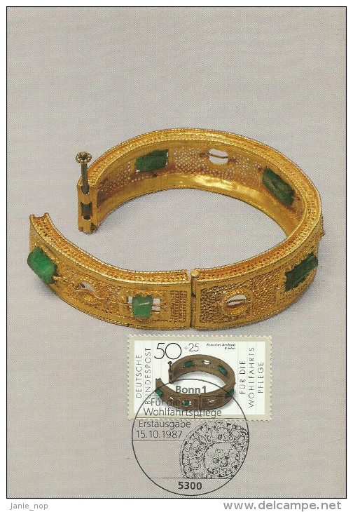 Germany 1987 Gold And Silver Artifacts, Bracelet, Maximum Card - [7] Federal Republic