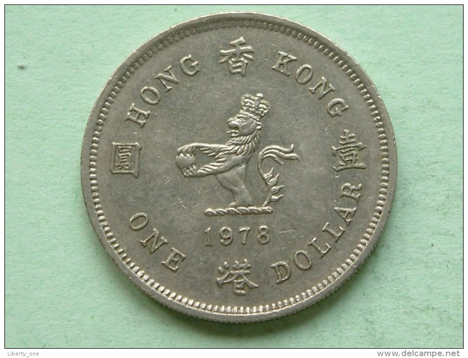 1978 - One $ / KM 43 ( Uncleaned Coin / For Grade, Please See Photo ) !! - Hongkong