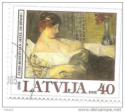 2005 Lettonie - Letland - Latvia - Janis Rozentals Painting - Women With Children 2005 Used (0) - Latvia