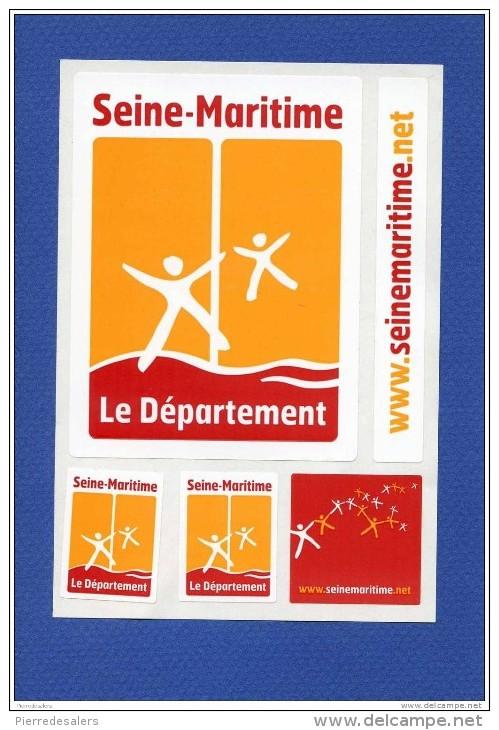 Autocollant - SEINE MARITIME - Plusieurs Autocollants Sur La Planche - Publicité Pour Le Département. Sticker - Stickers