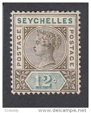 Seychelles 1893 12c  SG23  MH - Seychelles (...-1976)