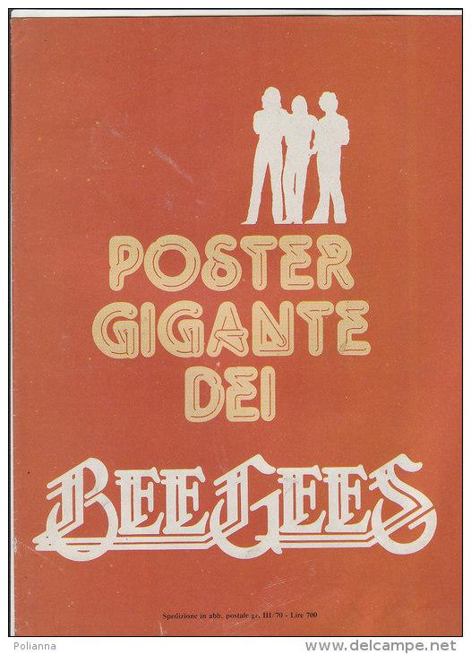 C1474 - POSTER GIGANTE DEI BEE GEES Inserto Collana Beta Anni '70 - Manifesti & Poster