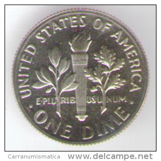 STATI UNITI DIME 1976 FONDO SPECCHIO - Emissioni Federali