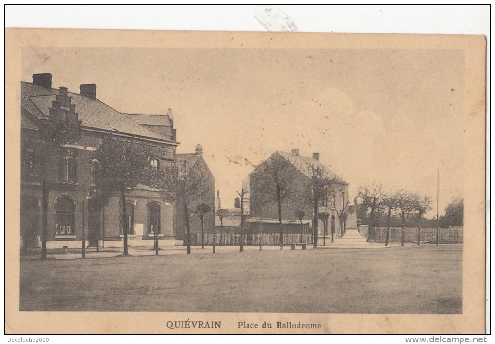 BR40073 Quievrain Place Du Ballodrome Belgium Front/back Image - Quiévrain
