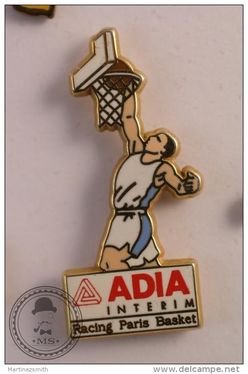 Adia Interim Racing Paris Basket 2 - Arthus Bertrand Basketball Pin Badge - #PLS - Baloncesto