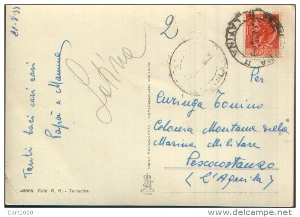 TERRACINA LATINA ZONA ALBERGHI VG. 1955 - Latina