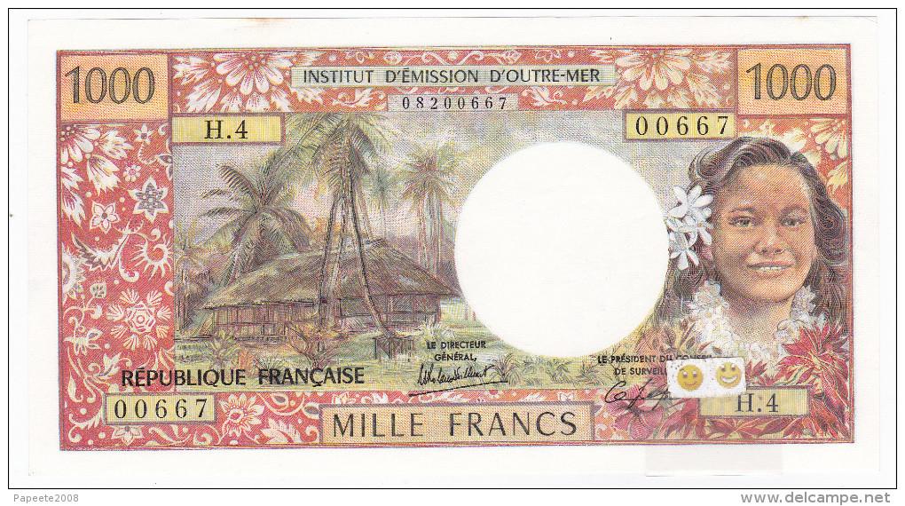 """Polynésie Française - 1000 FCFP - Mention """"PAPEETE"""" Au Verso - H.4 / Signatures Roland-Billecart / Leffort - SUP+ - Papeete (Polynésie Française 1914-1985)"""