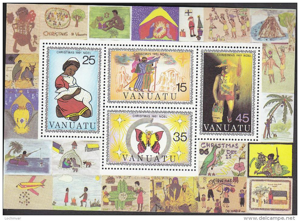 VANUATU, 1981 XMAS MINISHEET MNH - Vanuatu (1980-...)